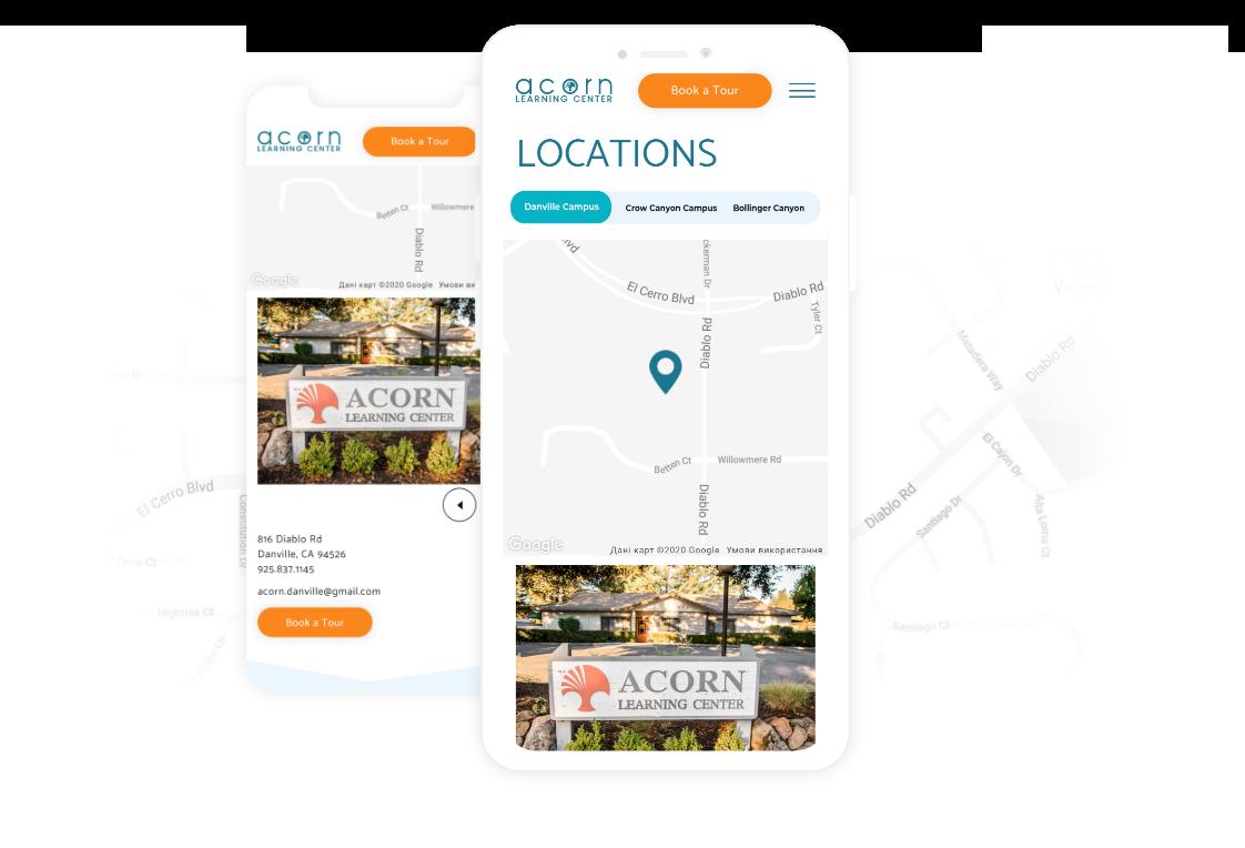 Acorn locations mobile