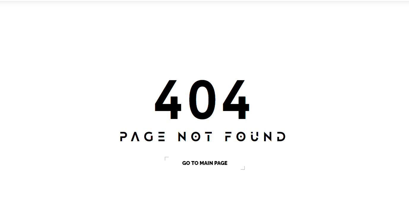 404 Page Not Found, example