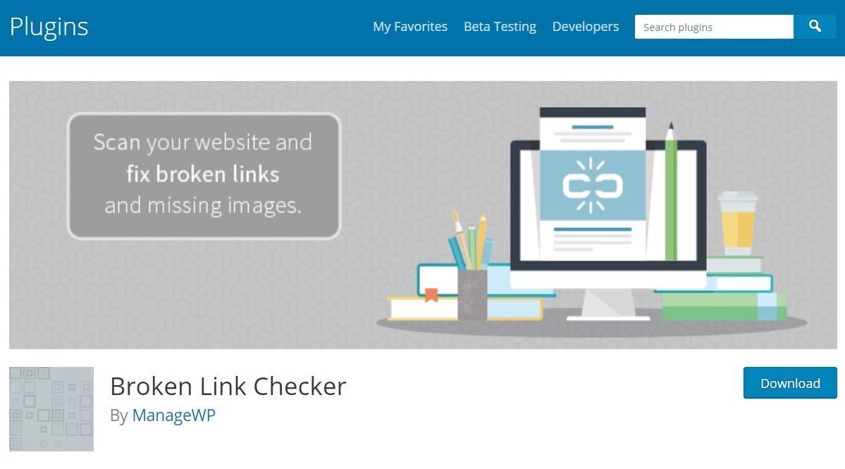 Broken Link Checker WP Plugin