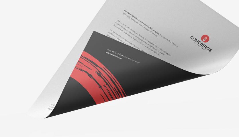 Letterhead design for SF catering company